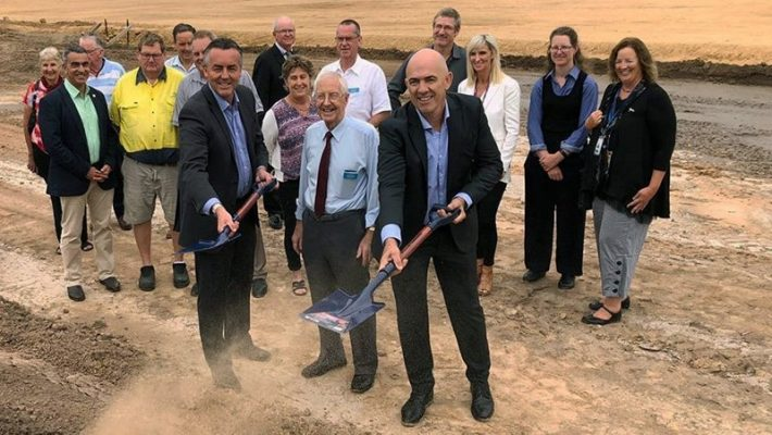 Turning the sod at HOPE in Gippsland